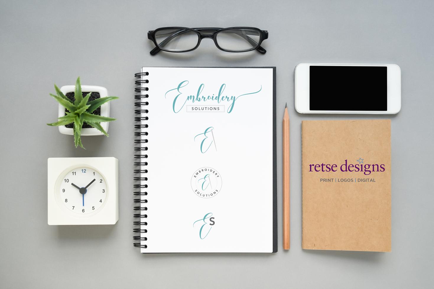 Retse Designs Logo Concepts Flatlay